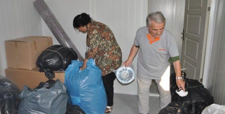 Selden etkilenen vatandaşlar konteynır evlere yerleştiriliyor