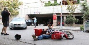 Başkent'te motosikletli kurye kazası: 1 yaralı