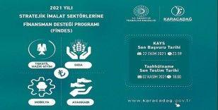 2021 Yılı Stratejik İmalat Sektörlerine Finansman Desteği Programı başvuruları başladı