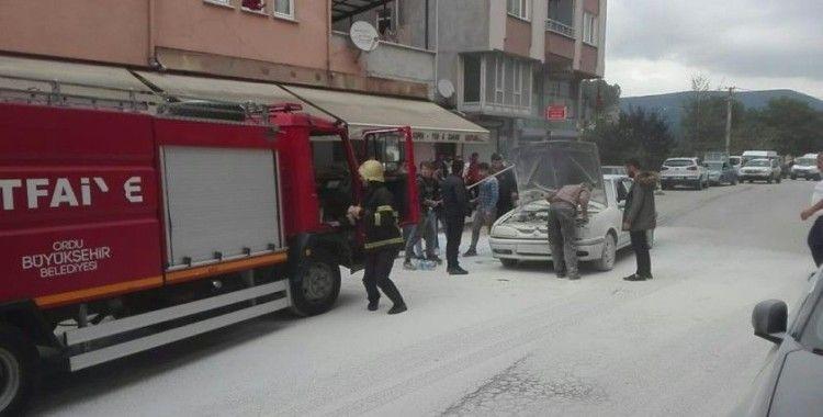 Ordu'da araç yangını