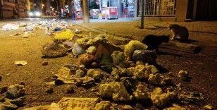 Pazarın ardından sokak savaş alanına döndü