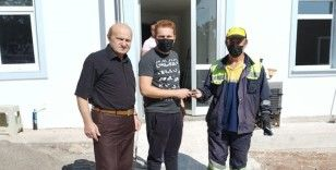 Kastamonu Belediyesi temizlik  personelinden örnek davranış