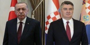 Erdoğan, Hırvatistan Cumhurbaşkanı Milanoviç ile bir araya geldi