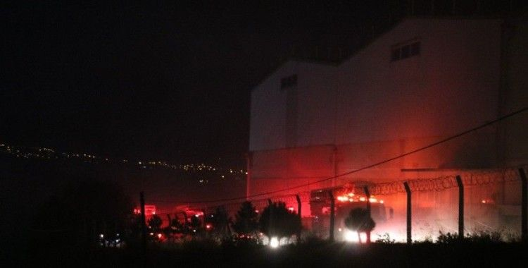 Kahramanmaraş'ta iplik fabrikasında yangın