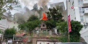 Bursa'da Orman Köşkü bünyesindeki tarihi bina alevlere teslim oldu