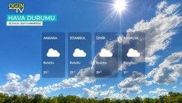 Yarın kara ve denizlerimizde hava nasıl olacak 25 Eylül 2021 Cumartesi