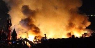 Bodrum'da otel lojmanında çıkan yangın güçlükle söndürüldü