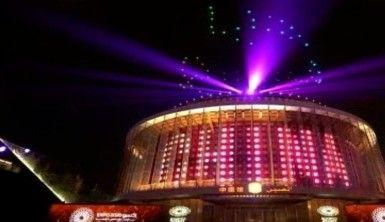 Dubai'deki Expo 2020'e ışık gösterileri hayran bırakıyor