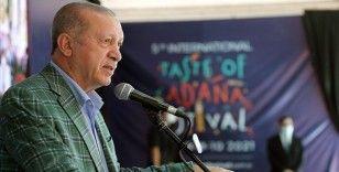Erdoğan: Sıfır atık prensibiyle düzenlenen Adana Lezzet Festivali yeşil kalkınma devrimimizin başladığının işaretidir