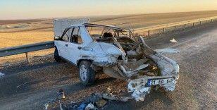 Diyarbakır'da kaza yapan otomobilin LPG tankı bomba gibi patladı: 2 yaralı
