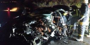 Aydın'da yabancı plakalı iki araç çarpıştı: 1 ölü