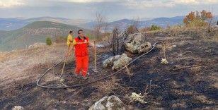 Ormanlık alanda başlayan yangın büyümeden söndürüldü