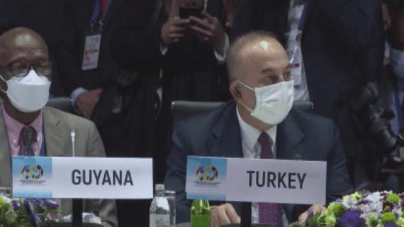 Bakan Çavuşoğlu, Bağlantısızlar Hareketi 60. yıldönümü toplantısına katıldı
