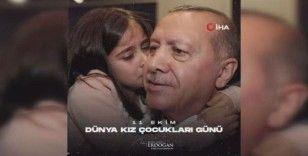 Cumhurbaşkanı Erdoğan'dan Dünya Kız Çocukları Günü Paylaşımı