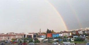 Bursa'da gökkuşağı büyüledi