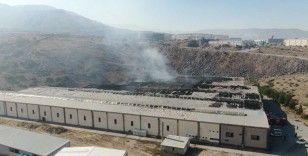 Fabrika yangınında hasar gün ağarınca ortaya çıktı