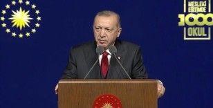 Cumhurbaşkanı Erdoğan: Mesleki eğitimi güçlendirmek gayesiyle okullara bir yılda 1 milyar lira yatırım yaptık