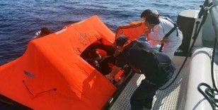 Marmaris'te 54 göçmen kurtarıldı