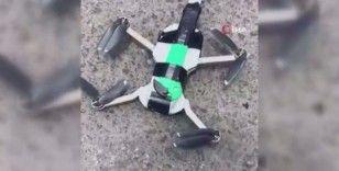 Peru'da bıçak bağlanan drone ile güvercin kurtarma operasyonu