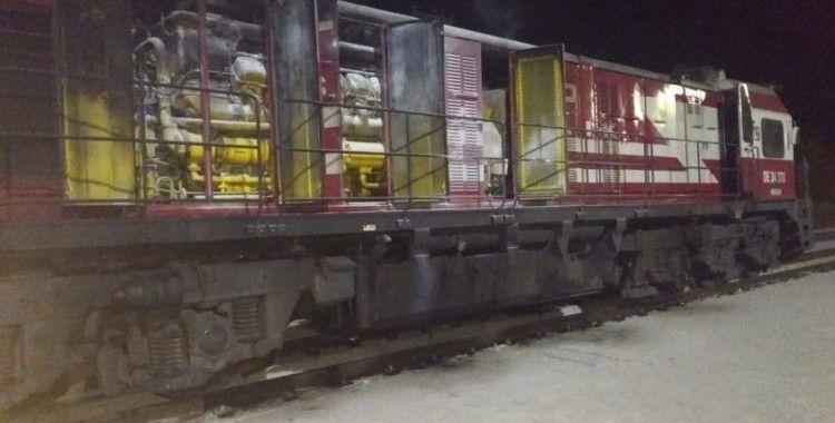 Tokat'ta yük treninin lokomotifinde yangın