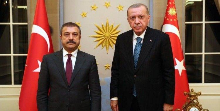 Cumhurbaşkanı Erdoğan, Merkez Bankası Başkanı Şahap Kavcıoğlu'nu Çankaya Köşkü'nde kabul etti