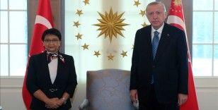 Cumhurbaşkanı Erdoğan, Endonezya Dışişleri Bakanı Marsudi'yi kabul etti