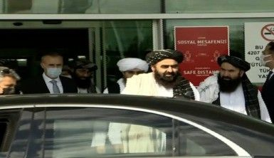 Taliban hükümetinin Dışişleri Bakan Vekili Emirhan Muttaki ve beraberindeki heyet Ankara'ya geldi