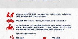 Ankara'da 2 haftalık asayiş uygulamalarında 247 kişi tutuklandı