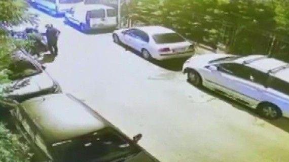 Çekmeköy'de 30 saniyede far hırsızlığı kamerada