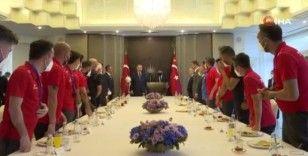 Cumhurbaşkanı Erdoğan, Ampute Futbol Milli Takımı'nı kabulü etti