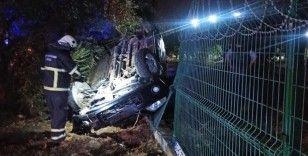 Aydın'da otomobil takla attı: 2 yaralı