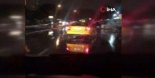 Esenler'de taksici terörü kamerada