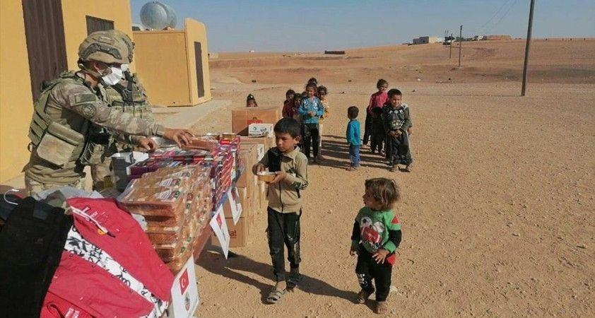 MSB'den Barış Pınarı bölgesindeki ihtiyaç sahiplerine yardım