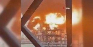 Kuveyt'te petrol rafinerisi alevlere teslim oldu
