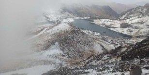 Yüksekova'nın yüksek kesimlerine mevsimin ilk karı yağdı