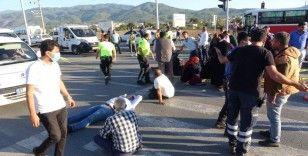 Otobüsün altında kalan motosikletli hayatını kaybetti