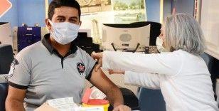 Didim Belediyesi'nde Covid-19 aşısı standı kuruldu