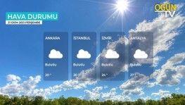 Yarın kara ve denizlerimizde hava nasıl olacak? 21 Ekim 2021 Perşembe