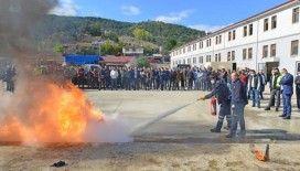 Kastamonu Belediyesinden yangın tatbikatı